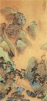 明  张宏《青绿山水图》