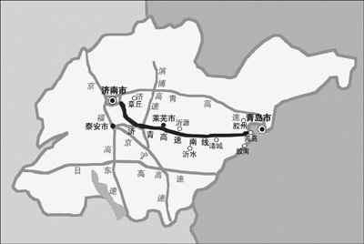 诸城到青岛高速地图