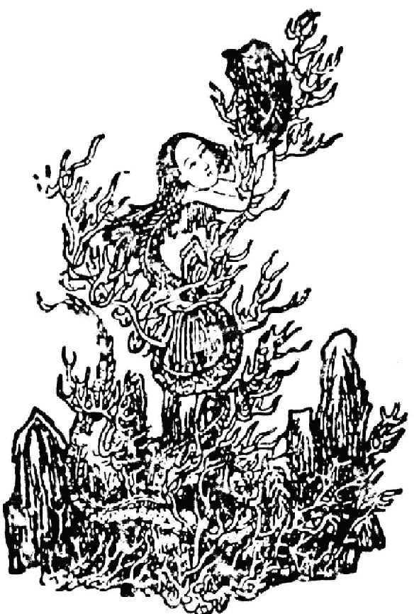 女娲动漫图片手绘
