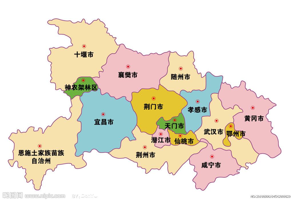 湖北师范大学手绘地图