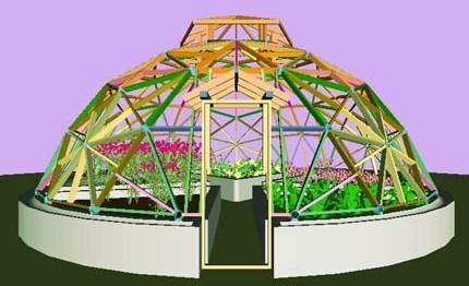 鸟巢温室在庭院花园设计上的运用