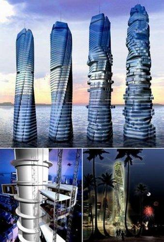 岛屿组成的人工群岛,按照世界地图的形状建设,位于迪拜海岸附近4英里