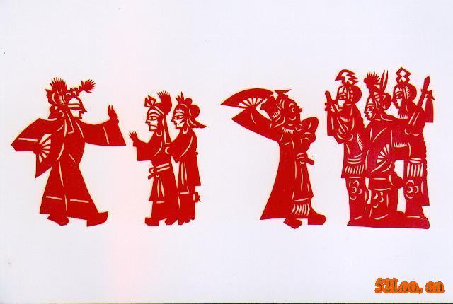 学习民间剪纸,并且创作出一大批反映解放区人民生产