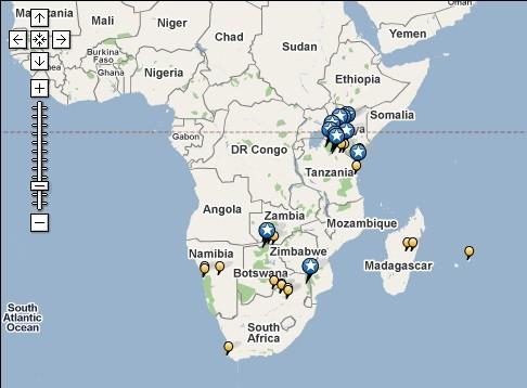 非洲动物迁徙地图