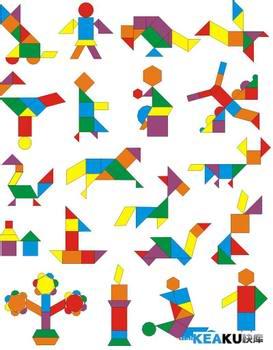 七巧板拼出的图案大全_用七巧板拼出的图案