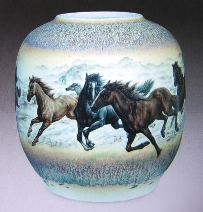 动物四只陶瓷作品图片