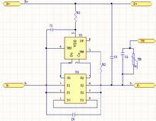 接口定义:该板的充电口与放电口相互独立,两者共正极,b-为连接电池图片