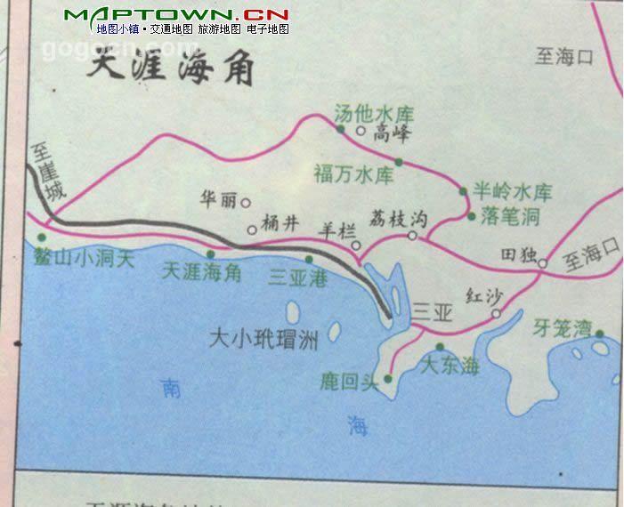 海南三亚地图