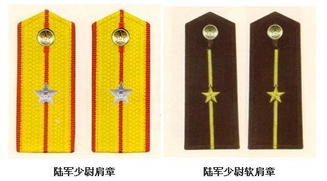 少尉军衔肩章 中国陆军少尉军衔肩章 解放军少尉军衔肩章-中国陆军军