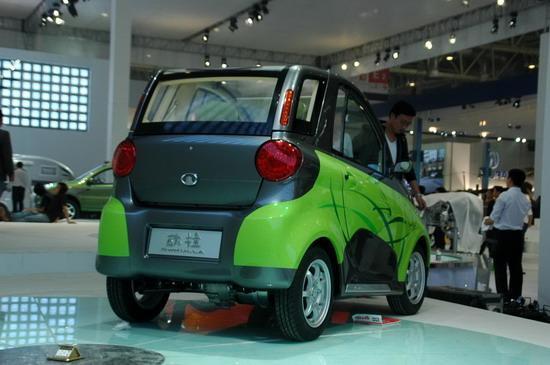 图为长城纯电动概念车欧拉尾部 绿色环保电动小车 08北京高清图片