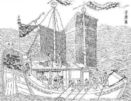 帆船素描步骤图