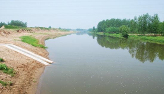 防洪标准按30年一遇,洪水设计500年一遇校核.