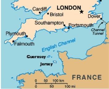 如今的泽西岛为英大不列颠王国外的一个独立地区