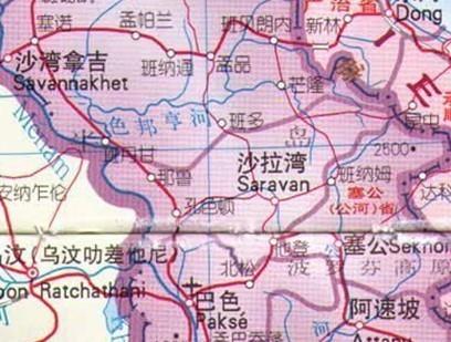 老挝南塔勐龙地图