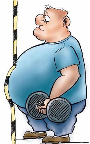 肥胖运动矢量图