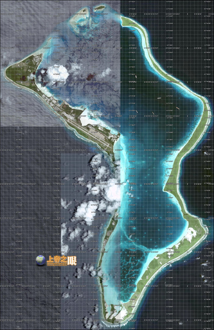 迪戈加西亚岛卫星地图