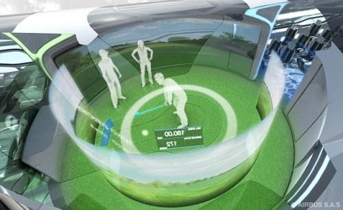 乘客可在机舱内打高尔夫