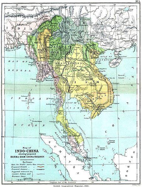 印度半岛地图手绘