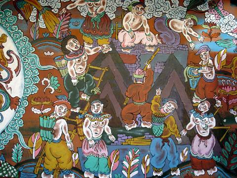 东巴的木牌画是在简制的木牌面上绘制出的图像