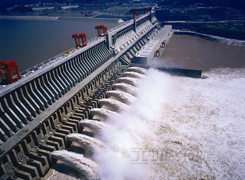 三峡水电站泄洪