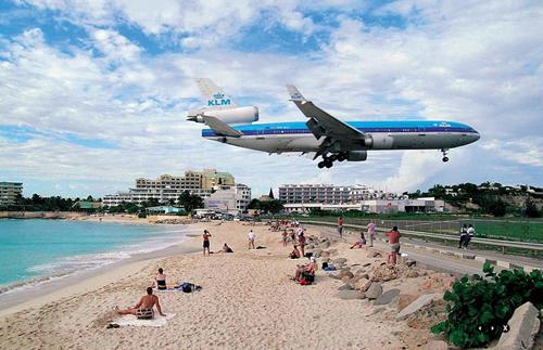 加勒比海圣马丁岛朱莉安娜公主国际机场