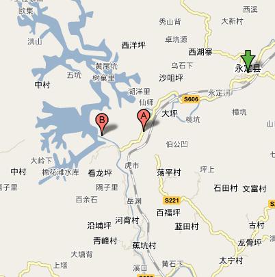 区域地图 位于福建省 龙岩市永定县境西南