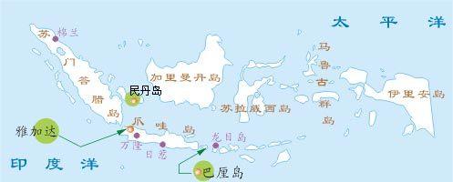 巴厘岛位置示意图